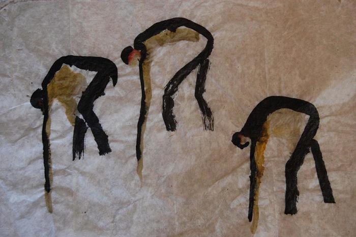 Three Dancers Folded