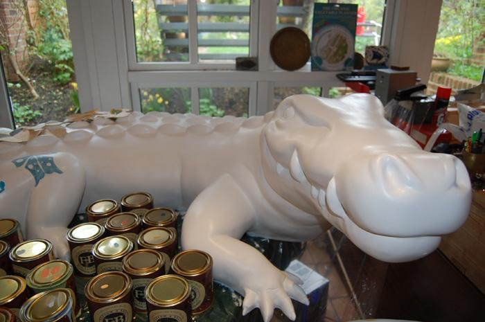 Crocodile 1 Medium: Painted Fibreglass Sculpture
